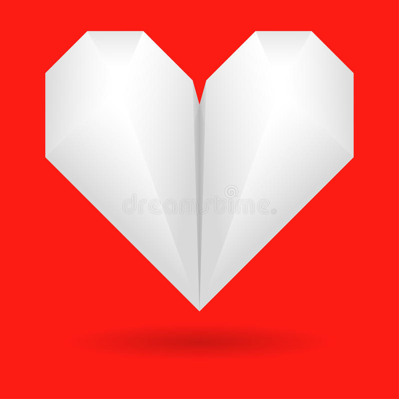 Paper Origami Heart Stock Photography