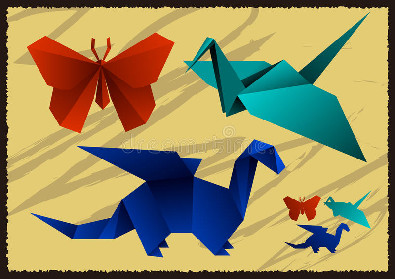 Paper origami royalty free stock photography