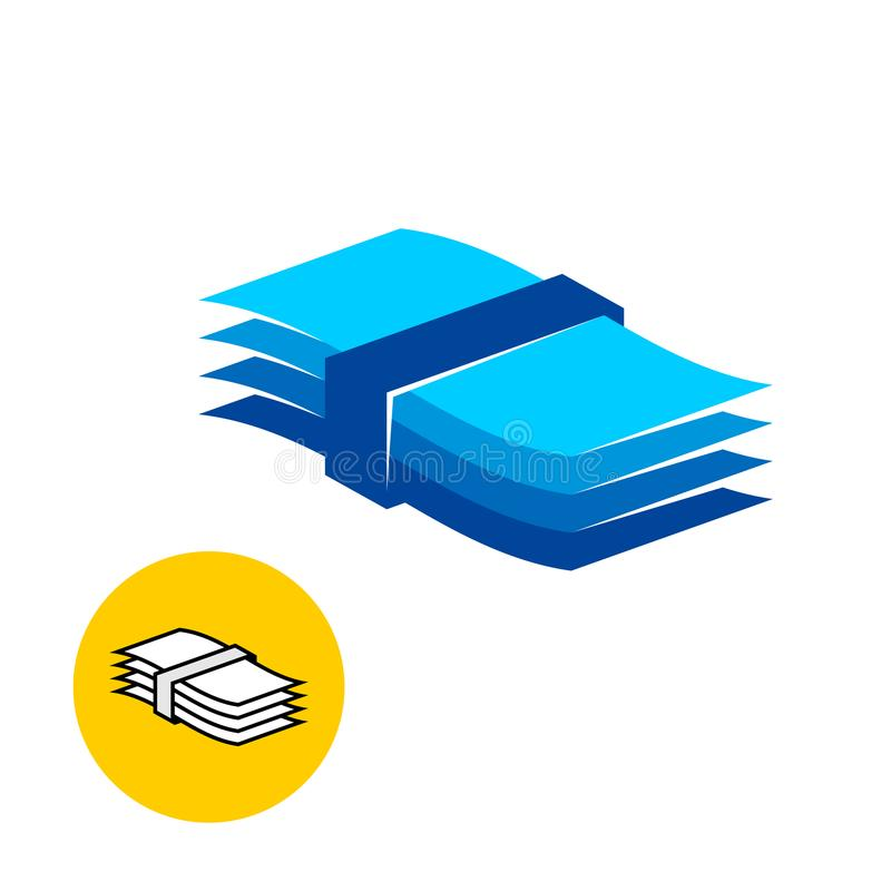 Paper pack logo. stock illustration