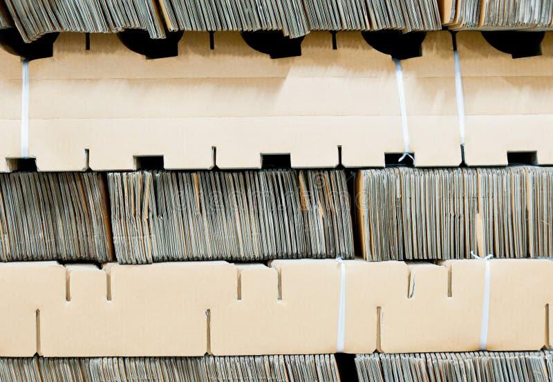 Paper packe för industriemballage royaltyfri bild