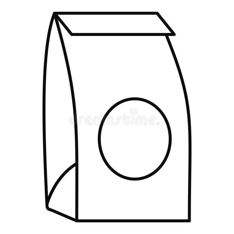 Paper packet icon, outline style. Paper packet icon. Outline illustration of paper packet vector icon for web design isolated on white background royalty free illustration