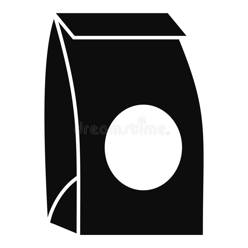 Paper packet icon, simple style. Paper packet icon. Simple illustration of paper packet vector icon for web design isolated on white background vector illustration