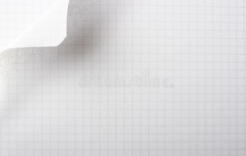 Paper page with curl royalty free stock image