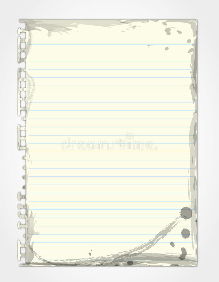 Download Paper Page  Ink  Stains And Dirt. Stock Illustration - Image: 22857650