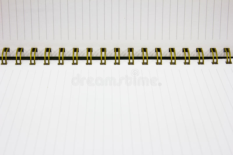 Paper page notebook stock photography