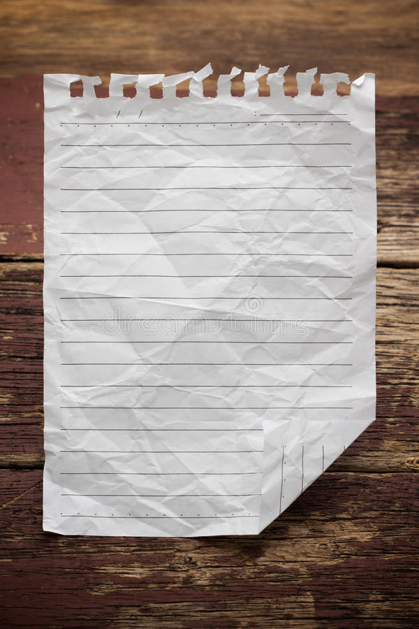 Paper page notebook stock photos