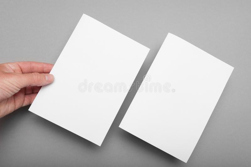 A5 paper page template, flyer blank mockup.  royalty free stock images