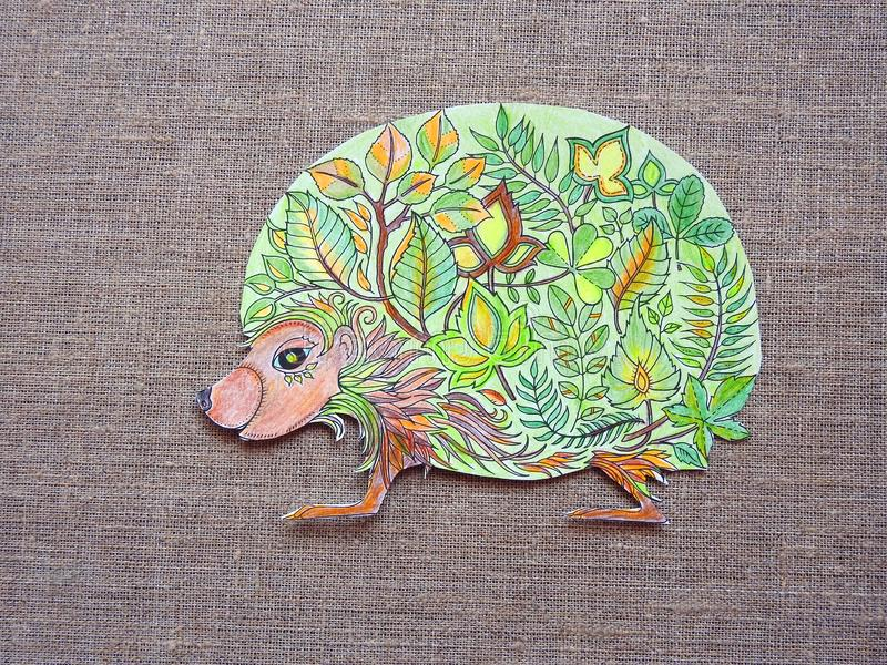 On paper painted hedgehog stock photography