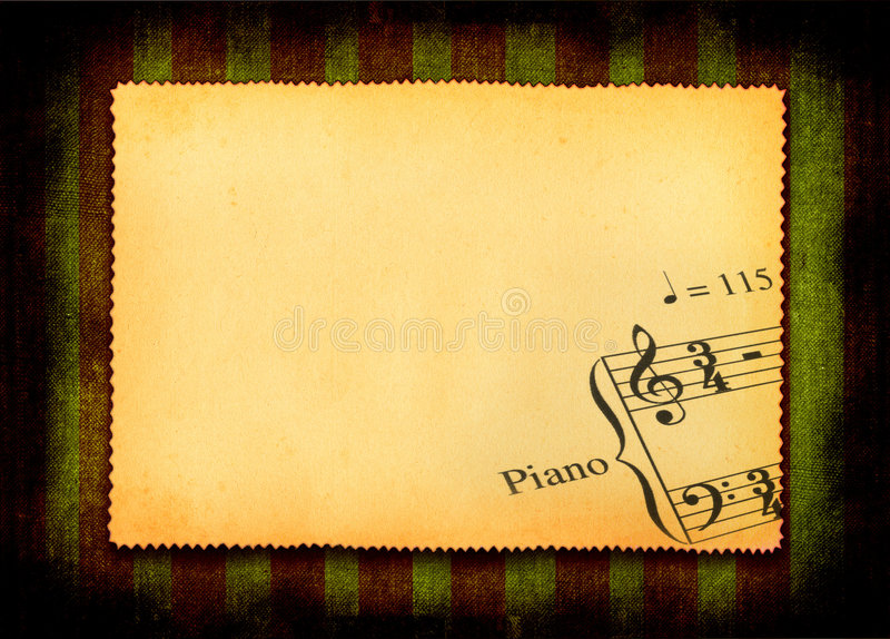 Paper with part of music note