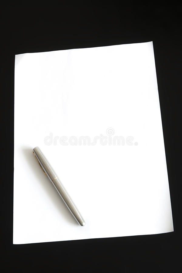 Paper And Pen Stock Images