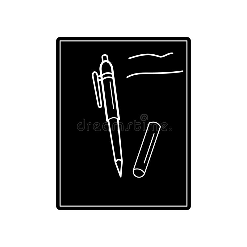 Paper And Pen icon. Element of Education for mobile concept and web apps icon. Glyph, flat icon for website design and development. App development on white royalty free illustration