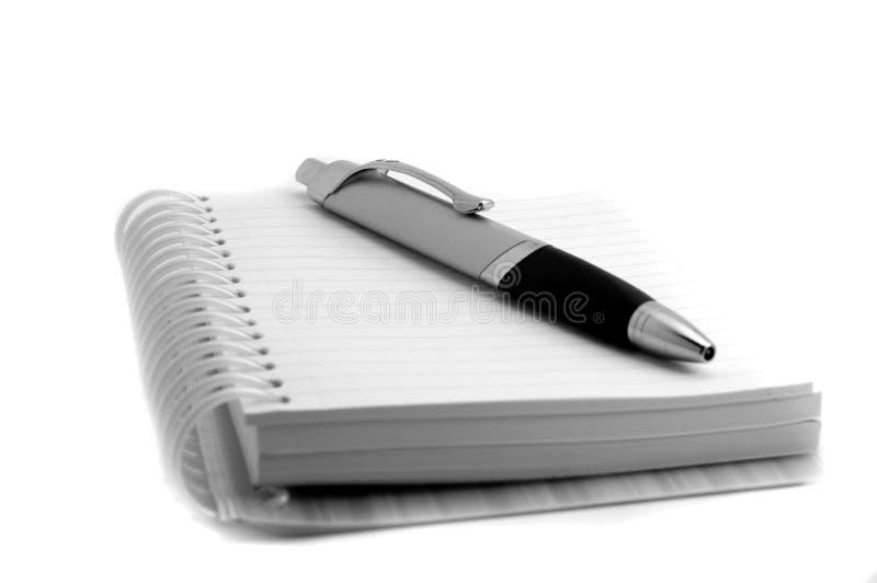 paper penna för anteckningsbok royaltyfria foton