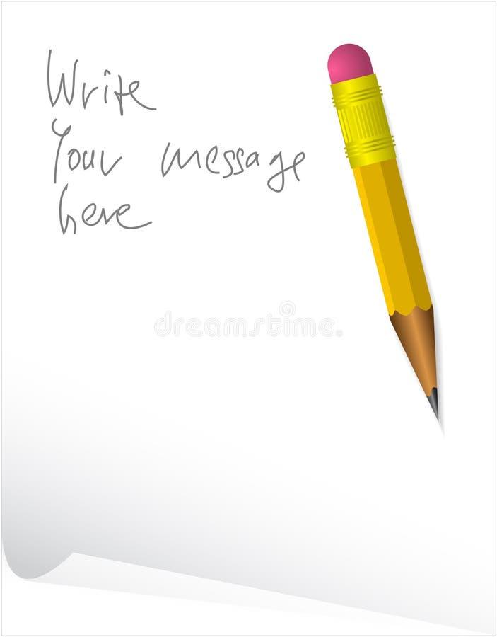 paper penna för meddelande vektor illustrationer