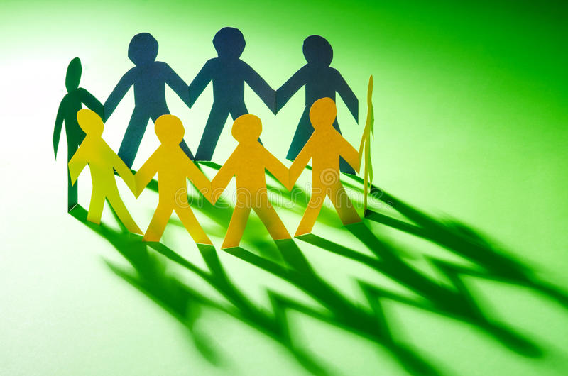 Download Paper people stock photo. Image of community, friend - 27863932