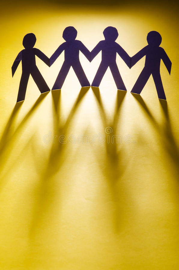 Download Paper people stock image. Image of human, community, copy - 27863945