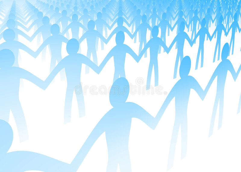 Paper People Cut Outs Royalty Free Stock Image