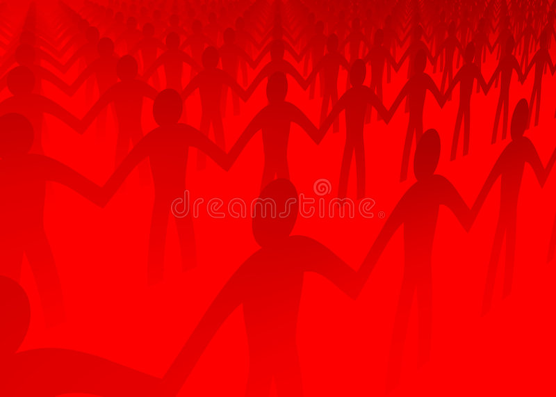 Download Paper people cut outs stock illustration. Image of friendship - 594439