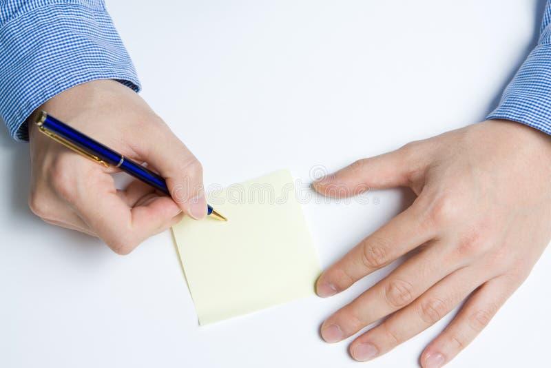 paper personwriting royaltyfria foton
