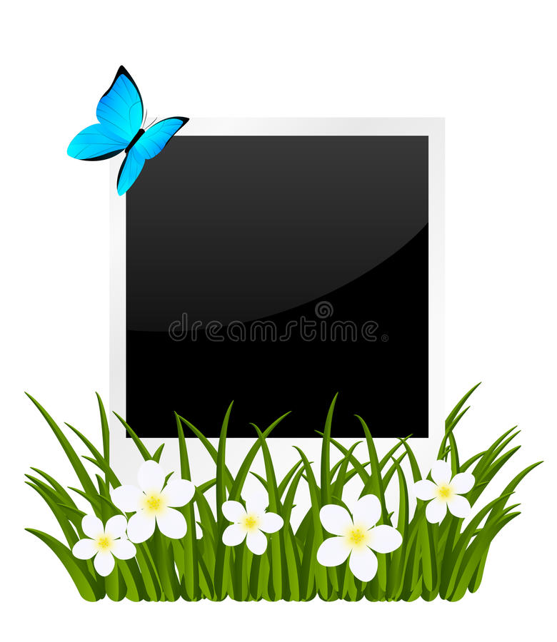 Paper photo card vector illustration