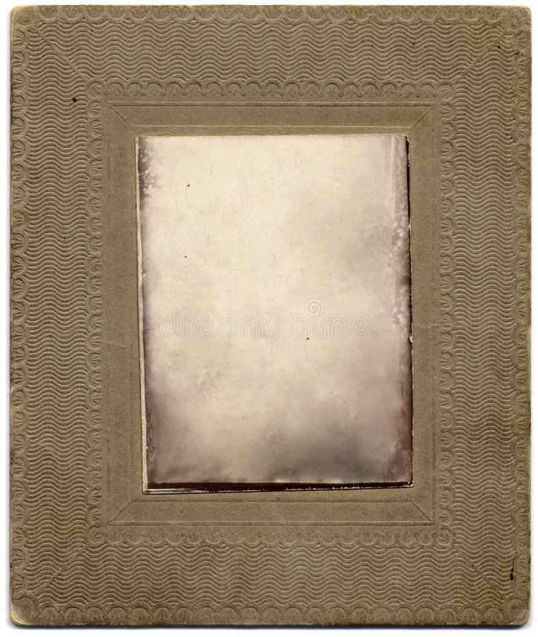 Paper photo frame pressed text royalty free stock images