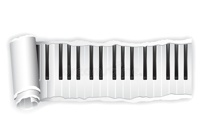 Paper Piano Key Stock Image