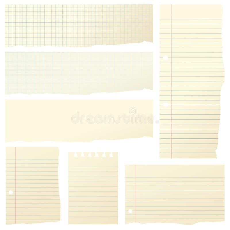 paper pieces απεικόνιση αποθεμάτων