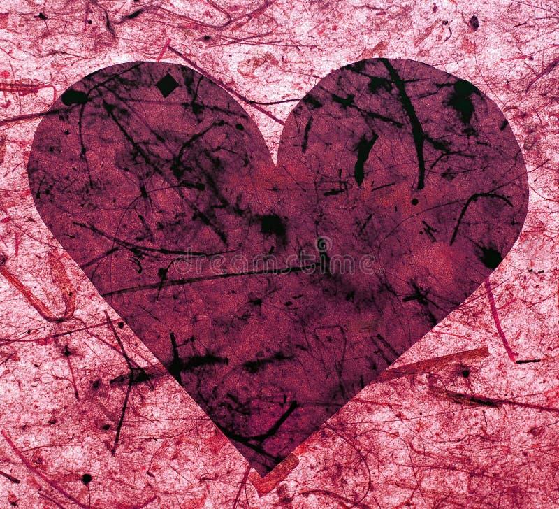 paper pink för hjärta arkivbild