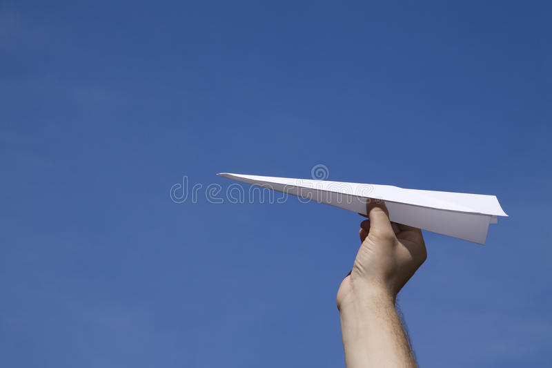 Download Paper plane stock photo. Image of plane, direction, hand - 14857210