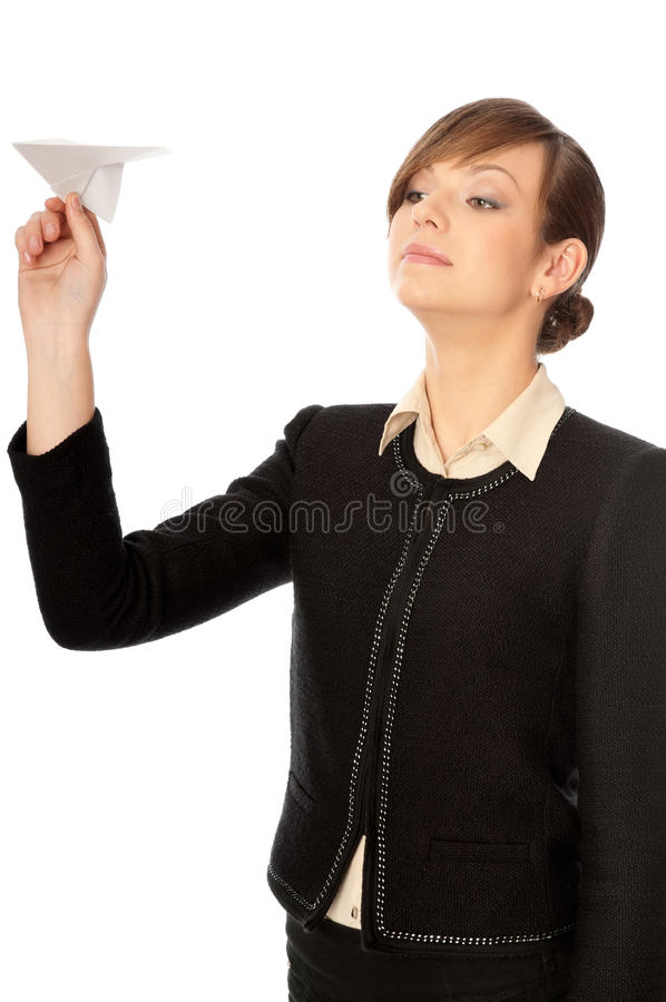 Paper plane royalty free stock images