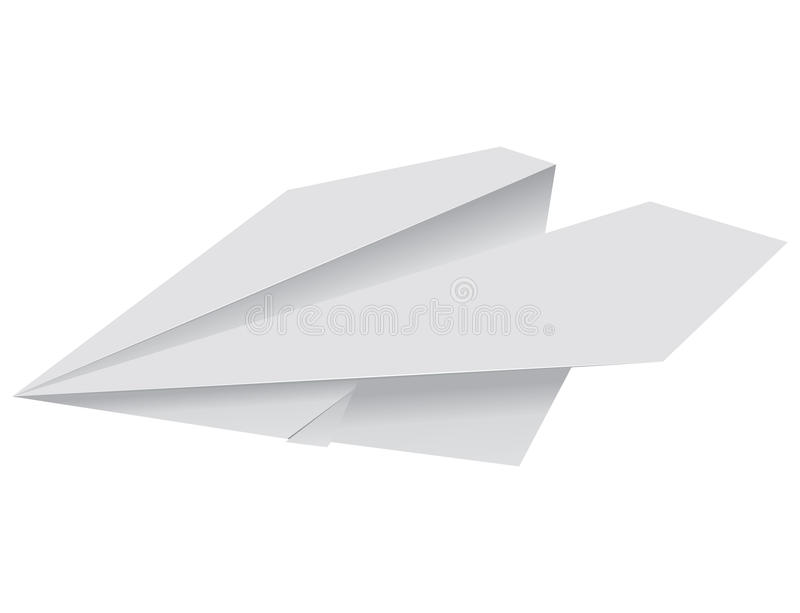 Paper plane. Illustration of a paper plane royalty free illustration