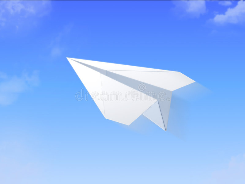 Paper plane. Picture shows plane, made of paper vector illustration