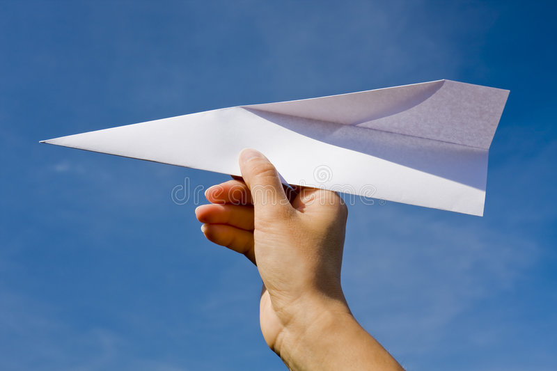 Paper plane royalty free stock photo