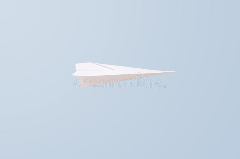 Paper Plane. A close up shot of a paper plane royalty free illustration