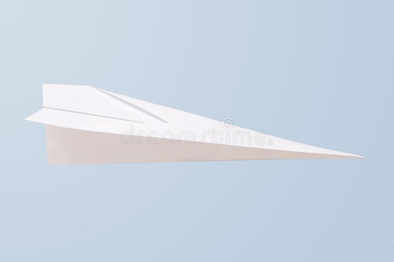 Paper Plane. A close up shot of a paper plane stock illustration
