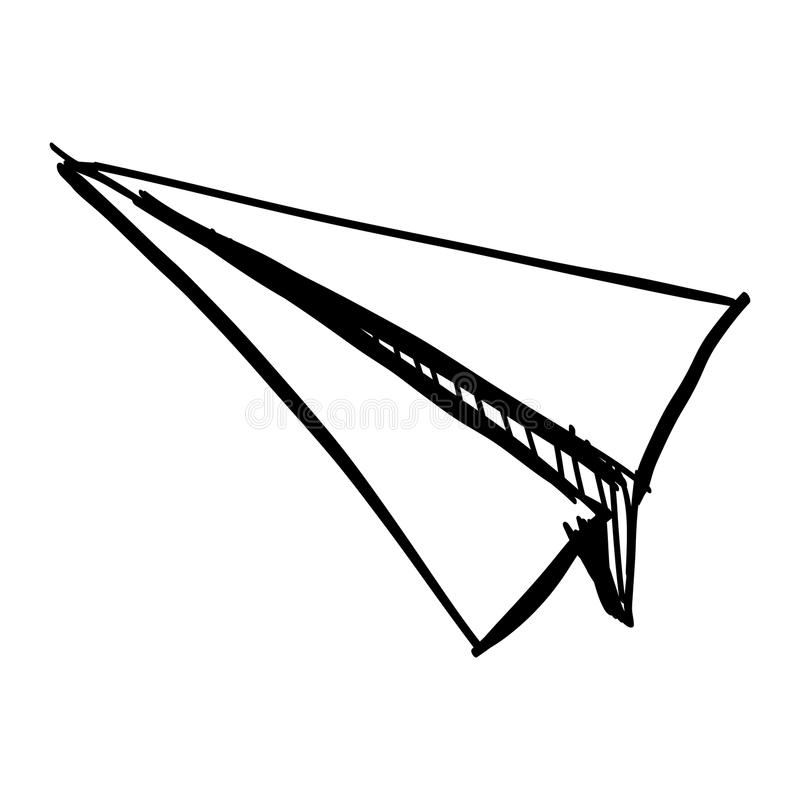 Paper plane icon isolated on white. vector illustration