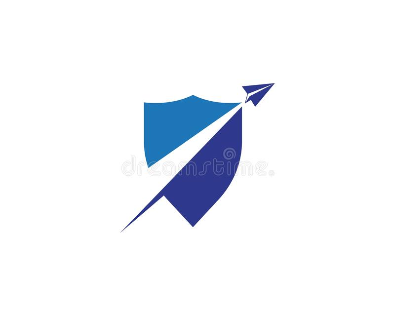 Paper plane icon vector illustration design. Logo Template, symbol, fly, airplane, concept, travel, isolated, business, background, flight, wing, aviation royalty free illustration