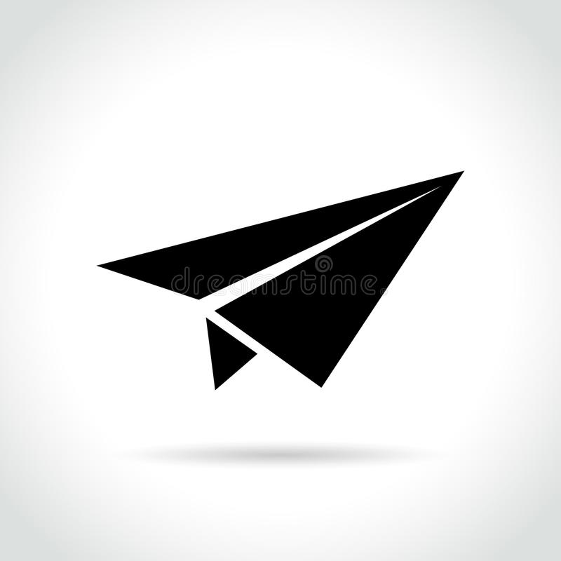 Paper plane icon on white background vector illustration