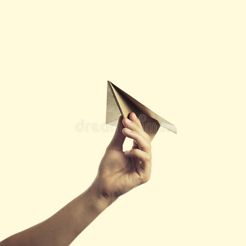 Paper plane 2 stock photography