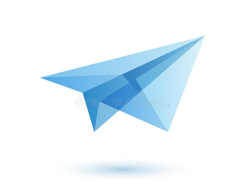 Paper Plane Logo Design Idea Stock Vector - Illustration ...