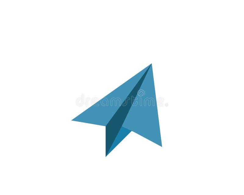 paper plane logo vector icon vector illustration