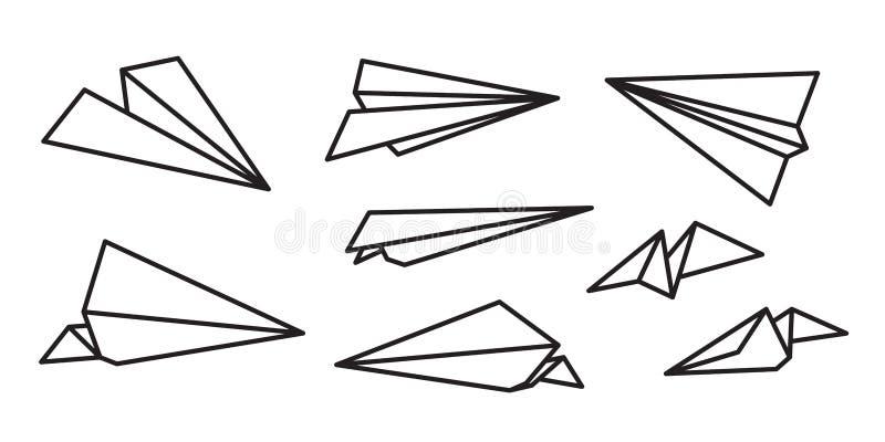 Paper plane Vector icon logo illustration cartoon stock illustration