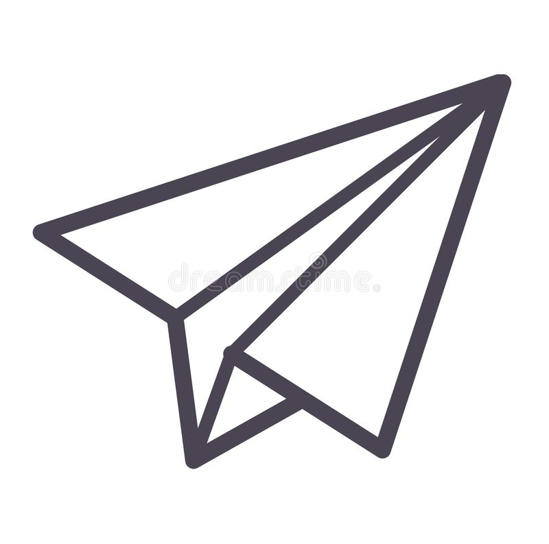 paper plane vector icon stock vector illustration of kids 79818955 rh dreamstime com paper plane cartoon video paper plane cartoon