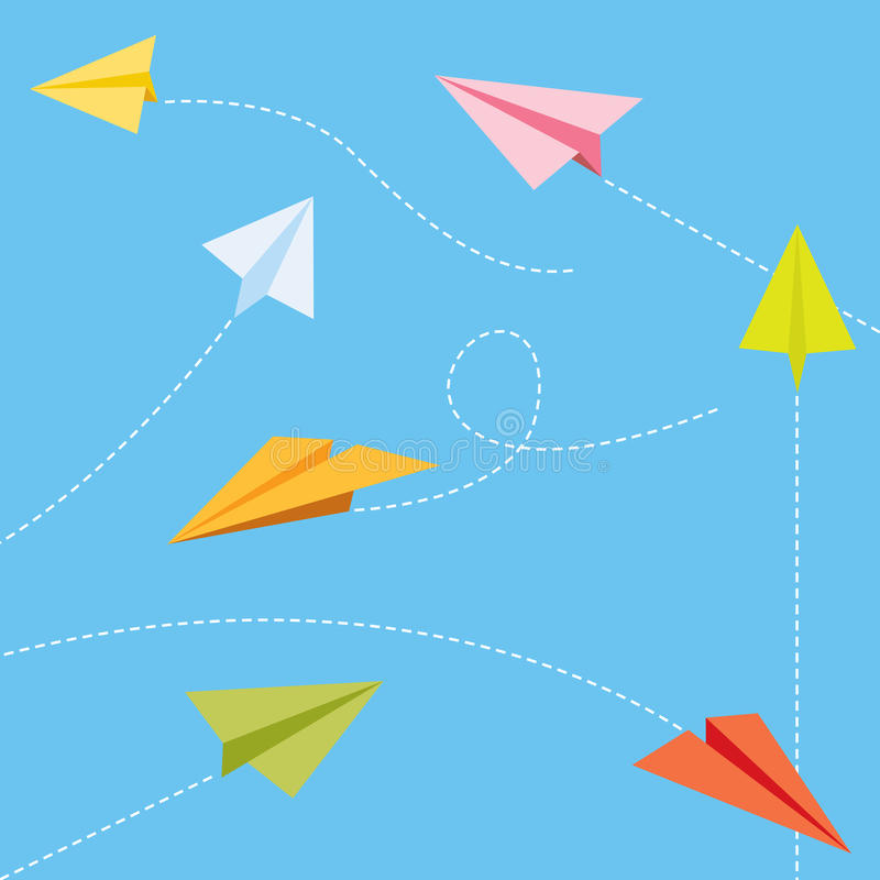 Free Paper Planes Royalty Free Stock Image - 10264616