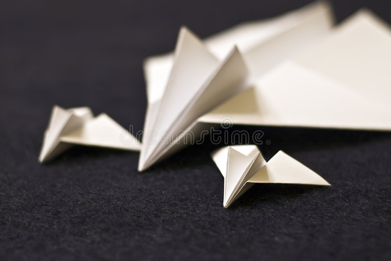 Paper planes family royalty free stock image