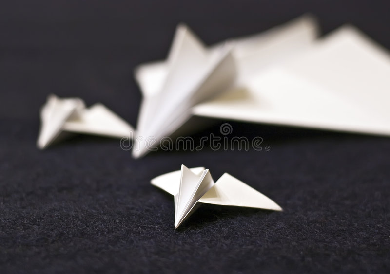 Download Paper planes family stock image. Image of fold, grounded - 3643201
