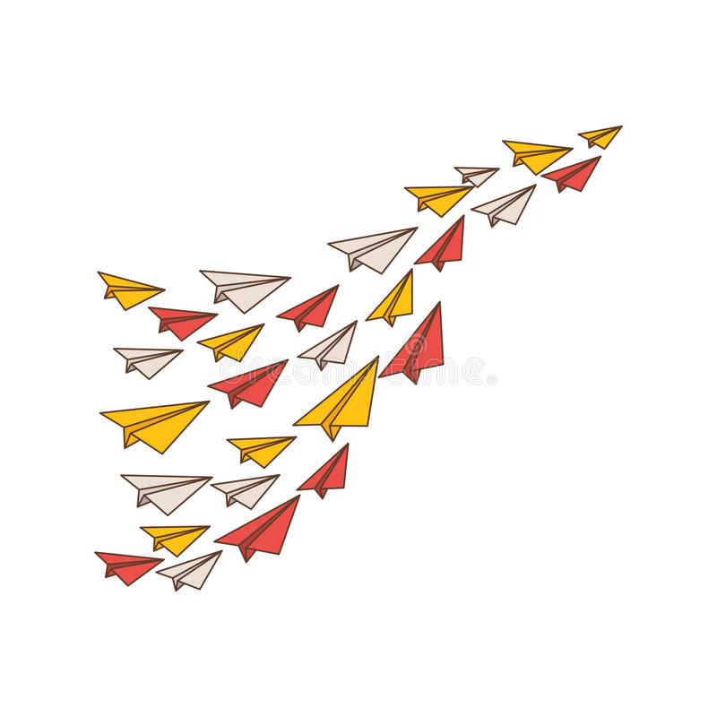 Paper planes origami royalty free illustration
