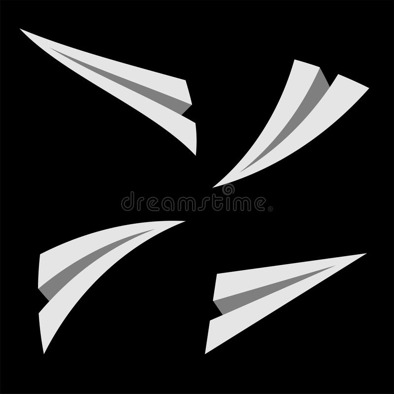 Download Paper planes over black stock illustration. Image of illustration - 12067972