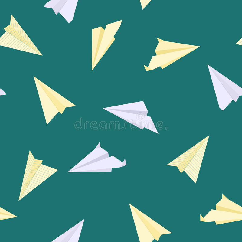Paper planes seamless texture vector illustration