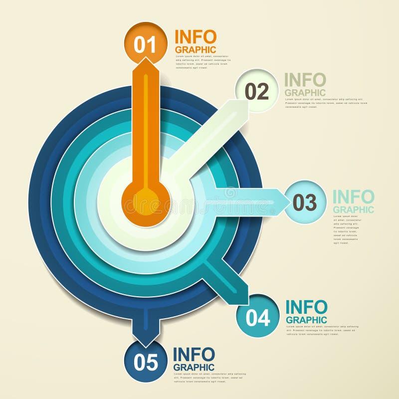 Paper pointer infographic elements. Modern vector abstract paper pointer infographic elements stock illustration