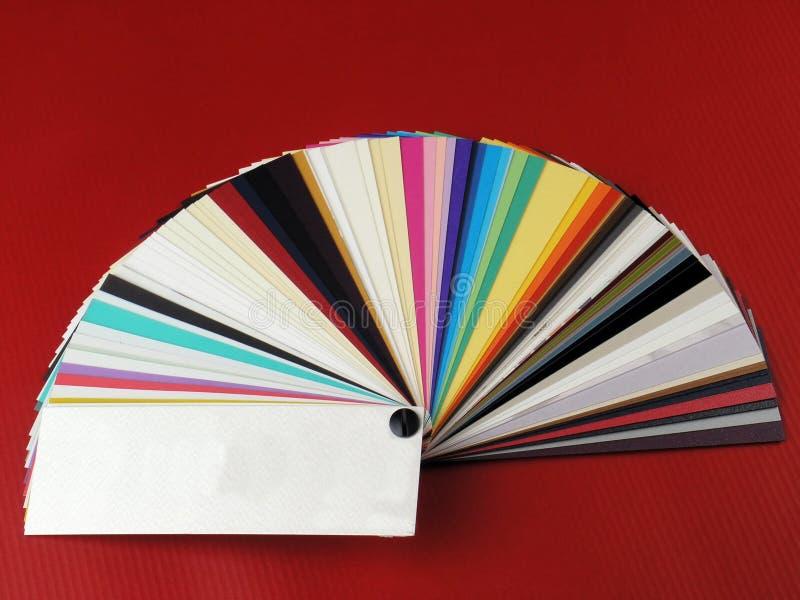 paper prövkopior för affärskort arkivbilder